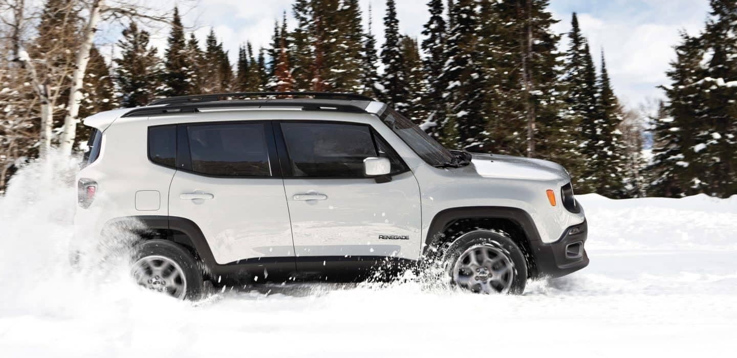2018 Jeep Renegade in snow