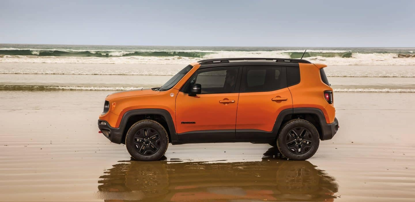 2018 Jeep Renegade in shallow water