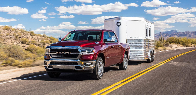 2019 Ram 1500 towing a trailer