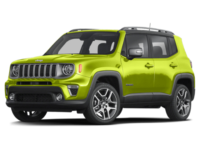 2019 Jeep Renegade in lime green