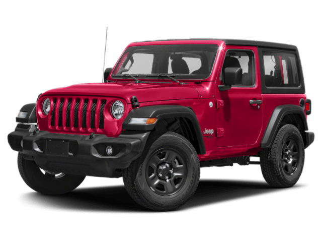 2019 Jeep Wrangler in red