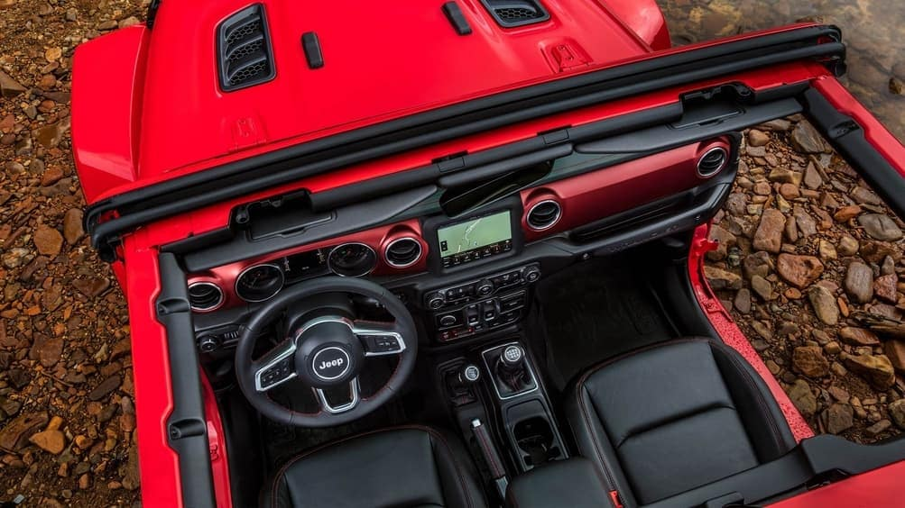 2019 Jeep Wrangler interior from above