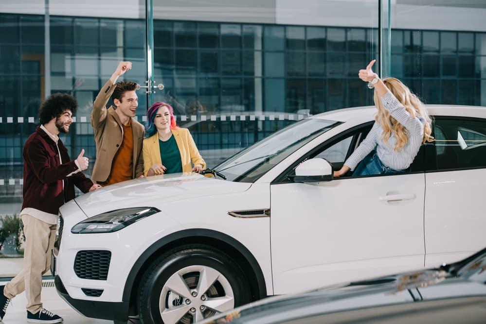 Friends buying car