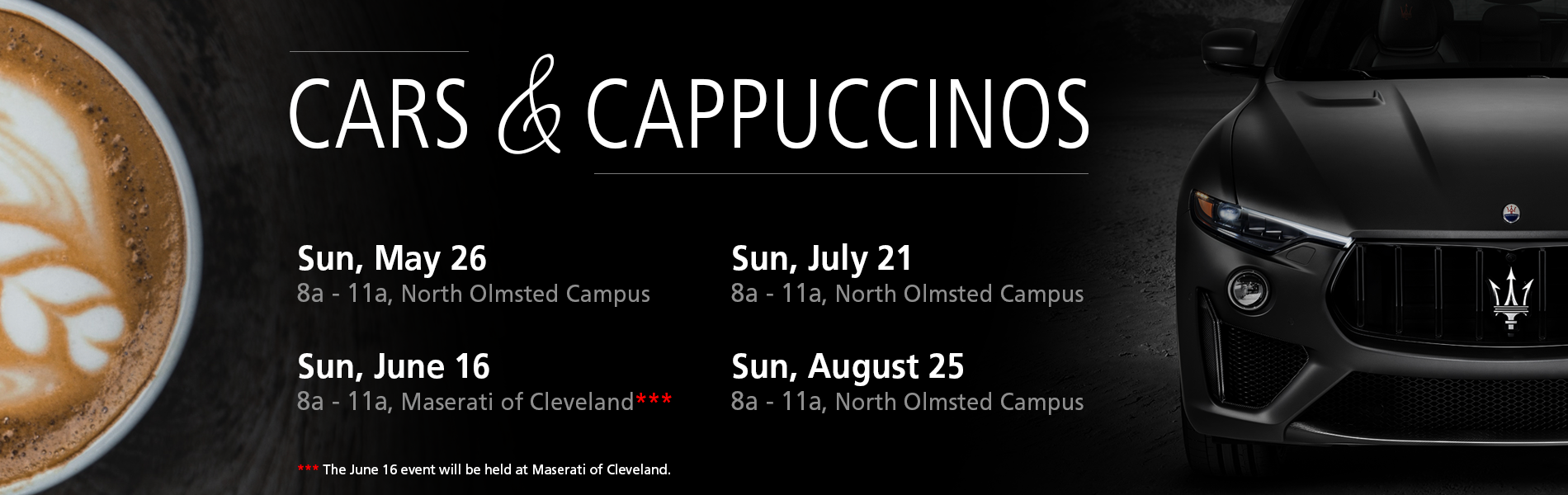 Cars and Cappuccinos Promotional Event