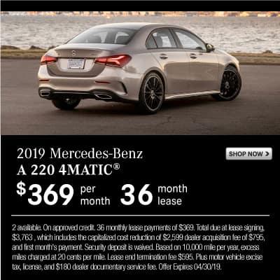 New 2019 Mercedes-Benz A 220 AWD 4MATIC®