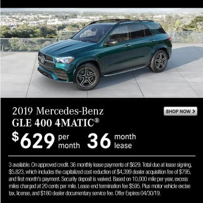 New 2019 Mercedes-Benz GLE 400 AWD 4MATIC®