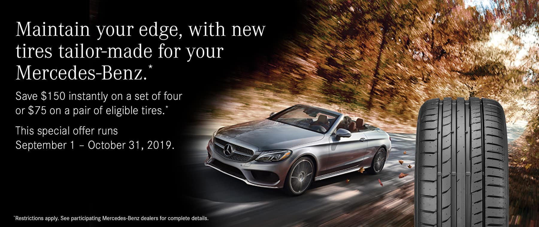 tires tailor-made for your mercedes-benz