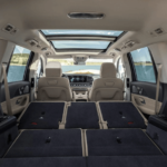 2020 Mercedes-Benz GLS interior with backseat folded down