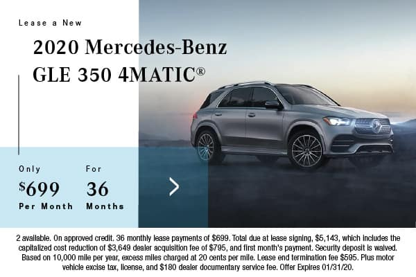 2020 Mercedes-Benz GLE 350 4Matic Lease $699 for 36 Mos.