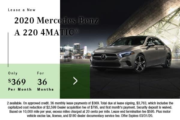 New 2020 Mercedes-Benz A 220 AWD 4MATIC®