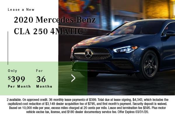 New 2020 Mercedes-Benz CLA 250 AWD 4MATIC®