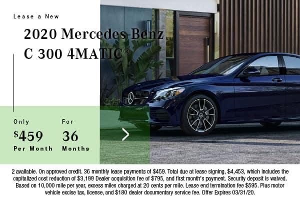 New 2020 Mercedes-Benz C 300 AWD 4MATIC®