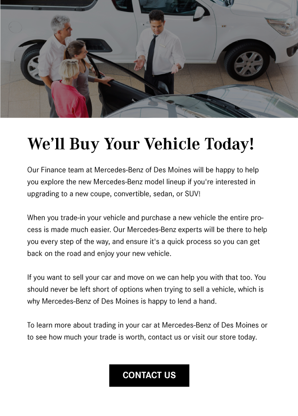 We'll Buy Your Vehicle Today!