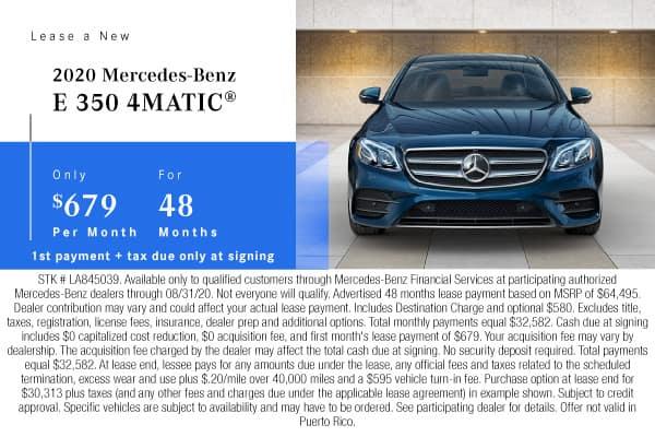 New 2020 Mercedes-Benz E 350 AWD 4MATIC®