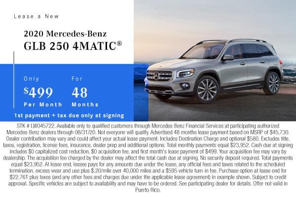 New 2020 Mercedes-Benz GLB 250 AWD 4MATIC®
