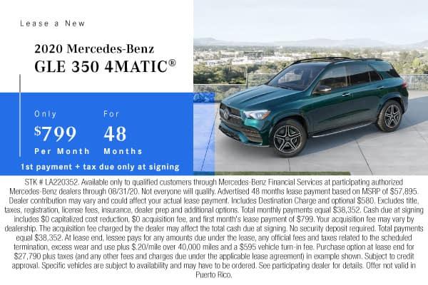 New 2020 Mercedes-Benz GLE 350 AWD 4MATIC®