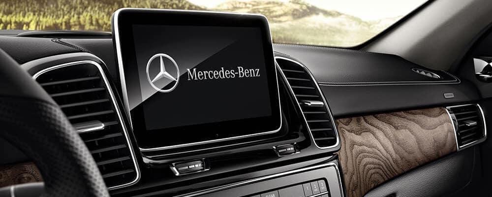 Mercedes-benz comand control screen on dashboard