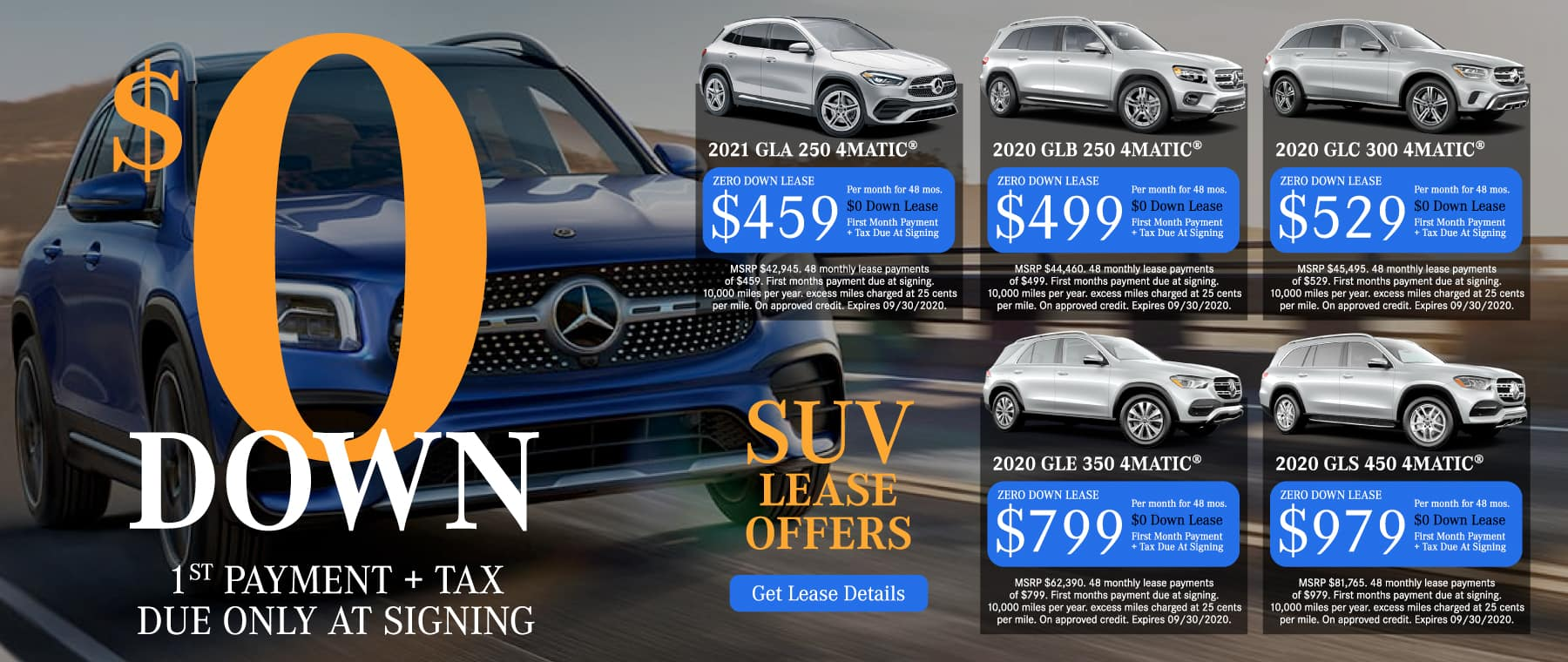 SUV Lease Offers