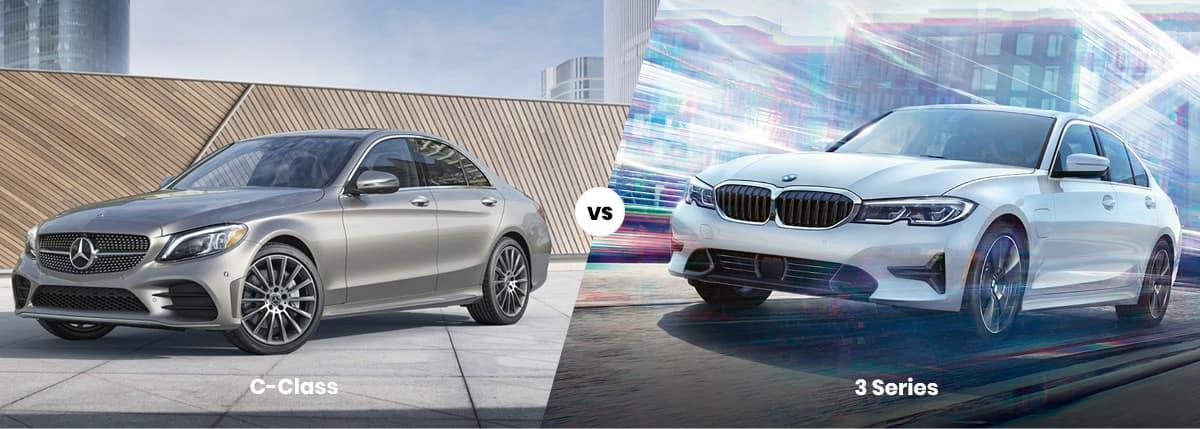 2021 Mercedes-Benz C-Class vs BMW 3 Series Comparison Banner
