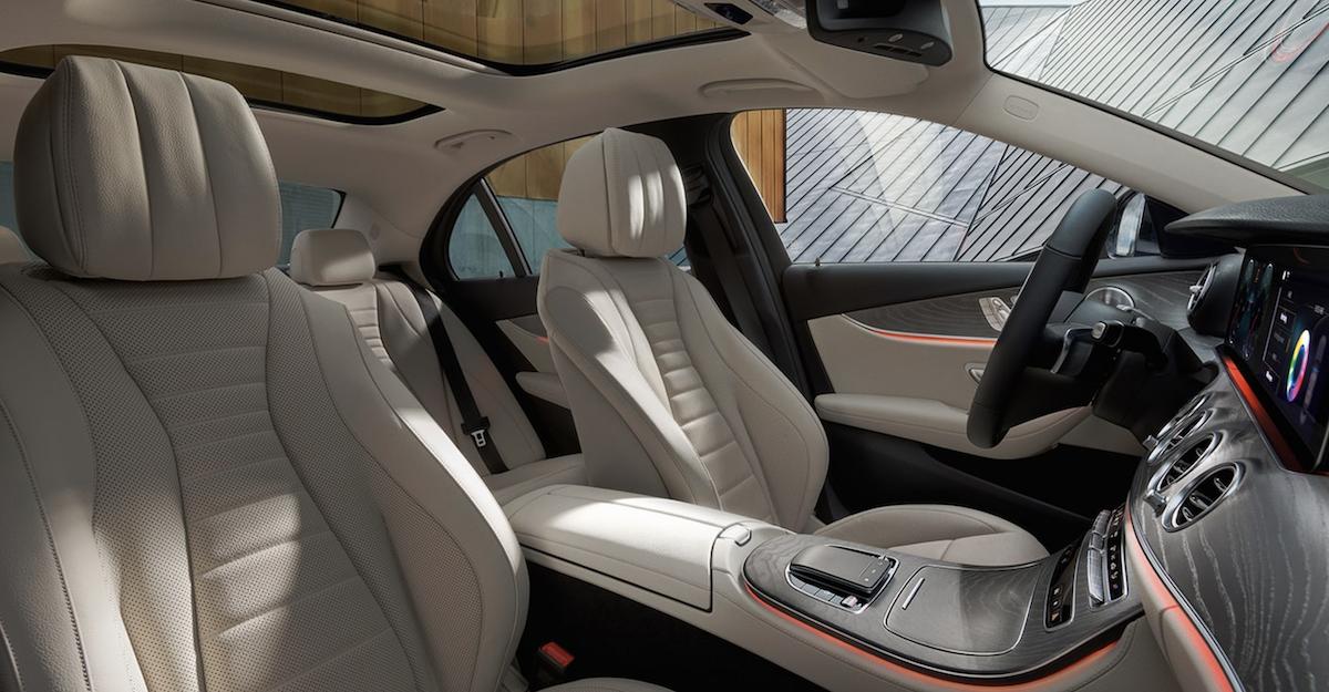 2021 Mercedes-Benz E-Class Interior Seating Banner