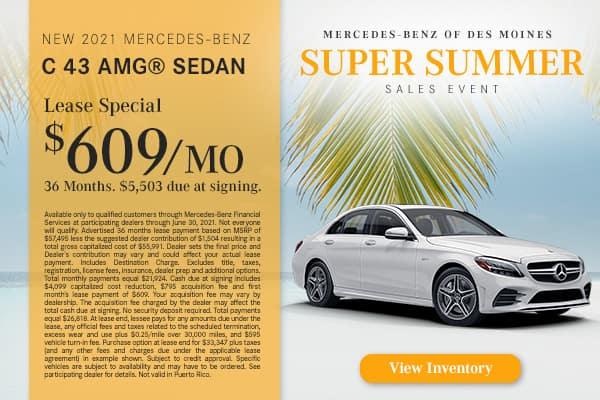 New 2021 Mercedes-Benz C 43 AMG®