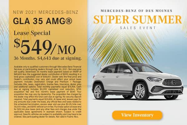 New 2021 Mercedes-Benz GLA 35 AMG®