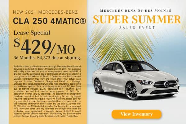 New 2021 Mercedes-Benz CLA 250 4MATIC®