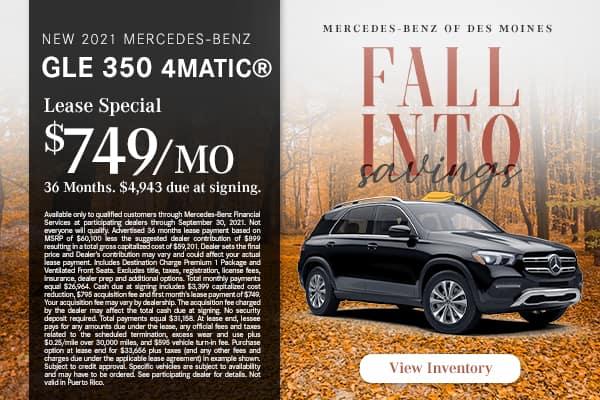New 2021 Mercedes-Benz GLE 350 4MATIC®