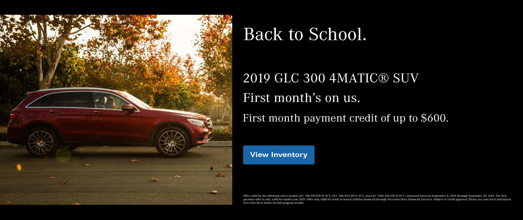 GLC First Month Payment
