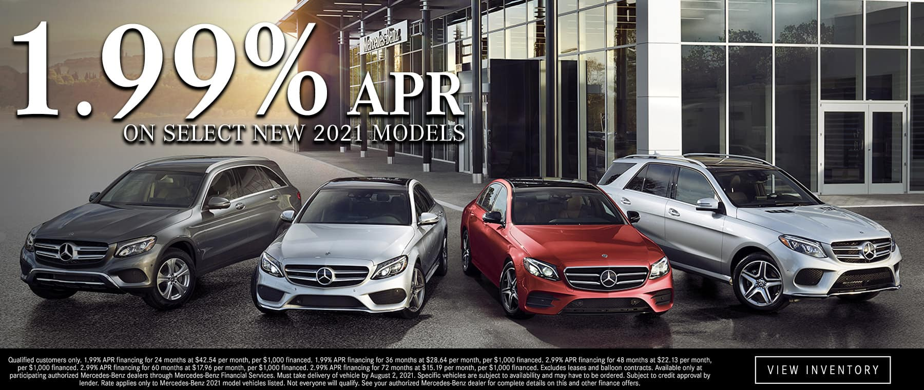Special on new 2021 Mercedes-Benz vehicles