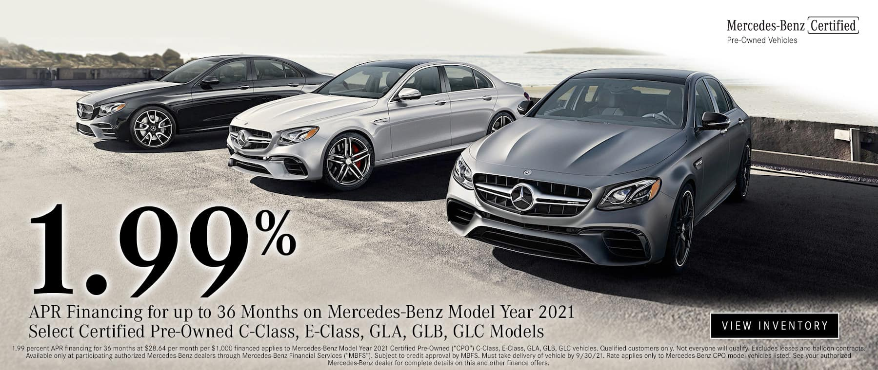 1.99% Certified Pre-Owned Mercedes Benz
