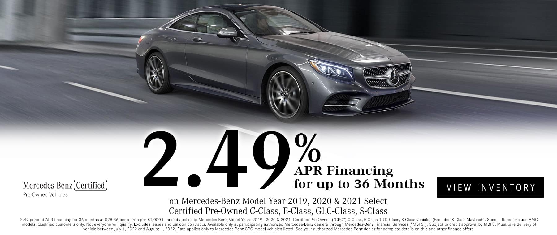 Certified Pre-Owned vehicles for sale at Mercedes-Benz of South Mississippi
