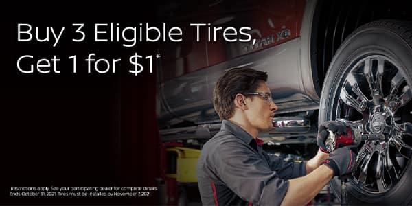 Buy 3 Get 1 Tire