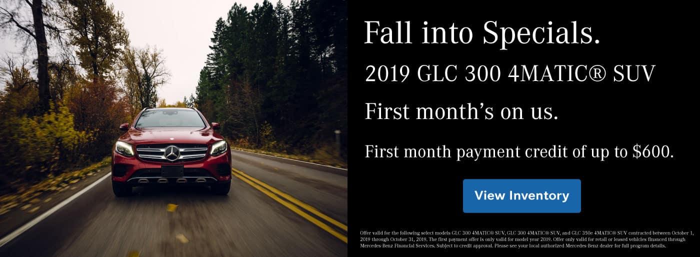 2019 GLC 300 Payment Credit