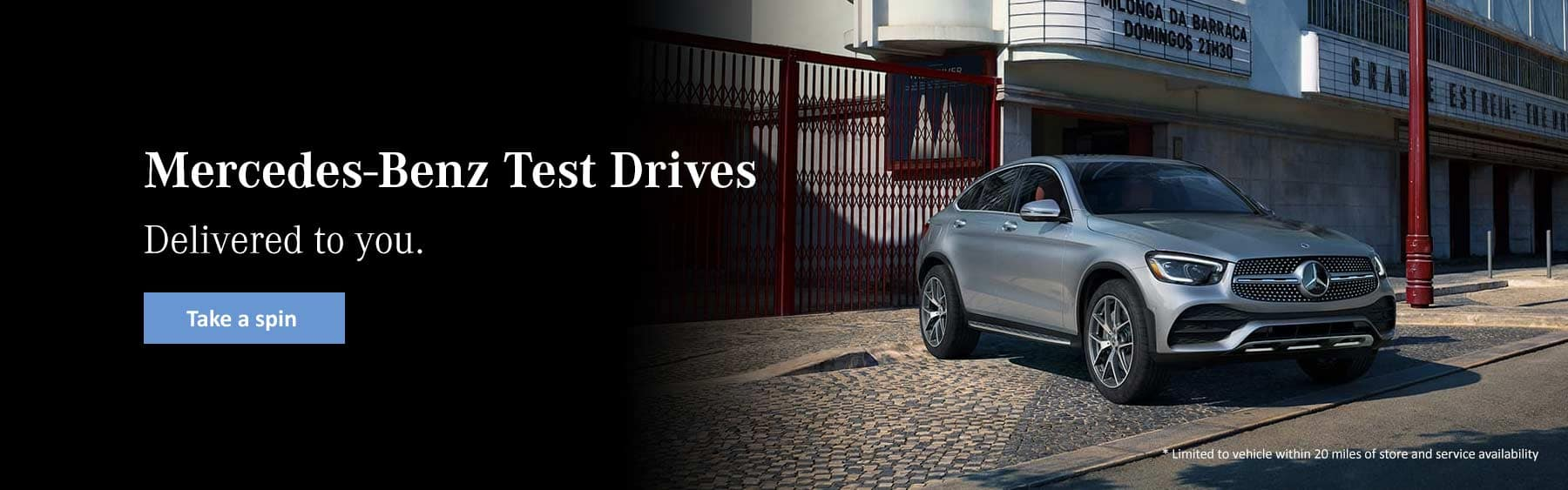mercedes-benz test drives delivered nearby