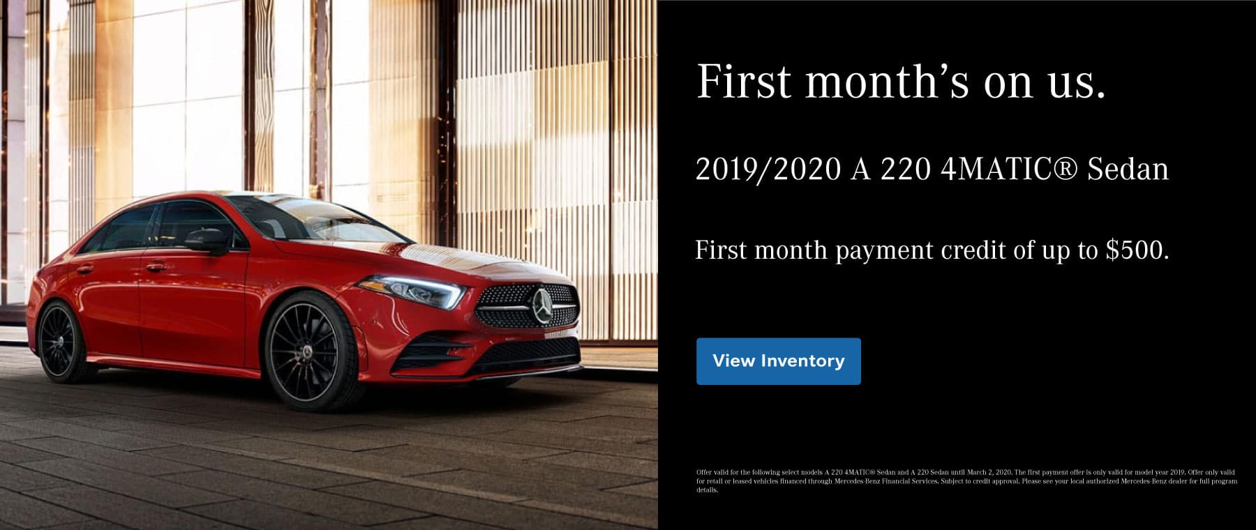 A-Class Payment Waiver