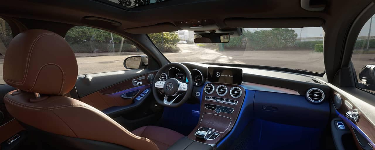 interior cabin of the 2019 Mercedes-Benz C-Class