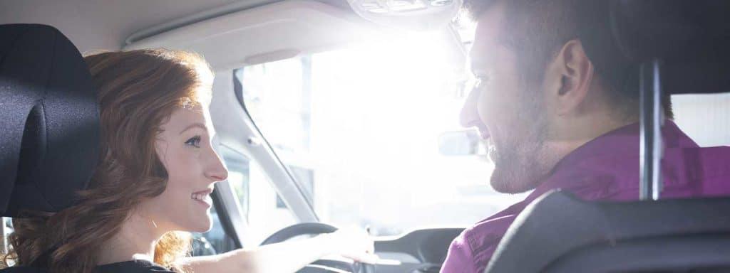 couple trade in car
