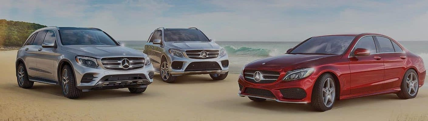 Mercedes-Benz Models On The Beach