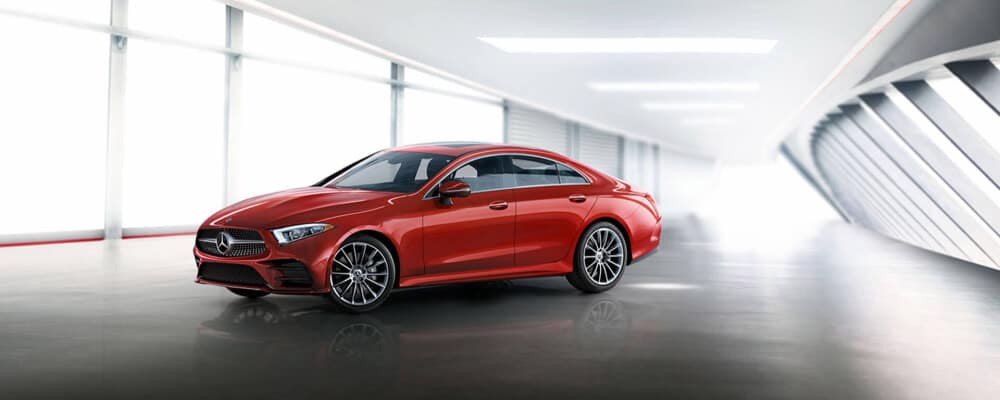 2020 Mercedes-Benz CLS Review Red in a parking garage
