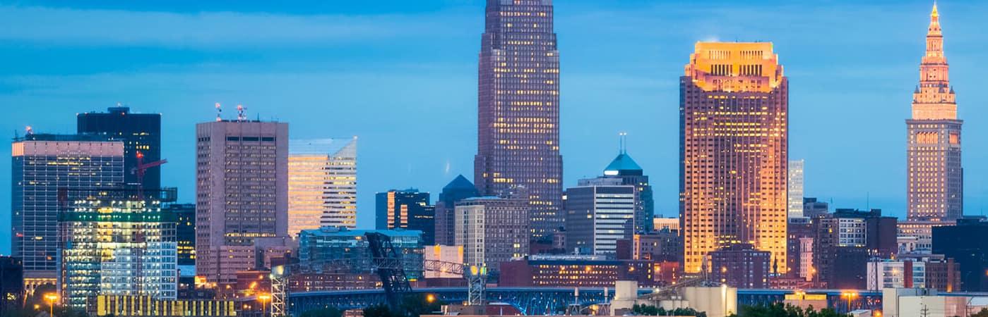 Cincinnati skyline during the night time