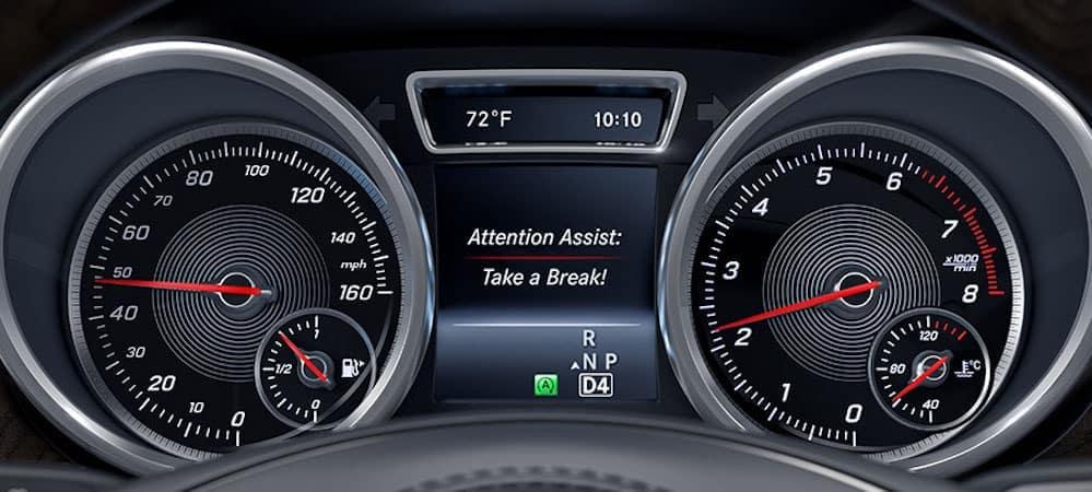 Mercedes-Benz Attention Assist in dashboard