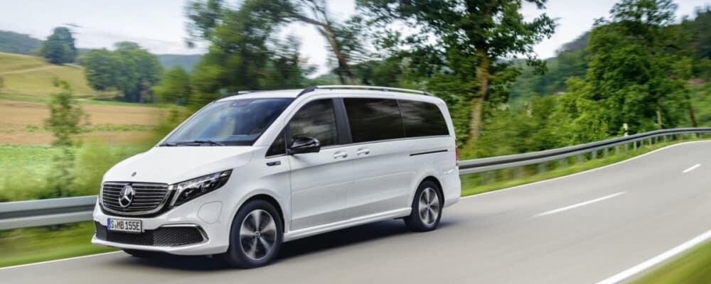 Mercedes-Benz Van driving down highway