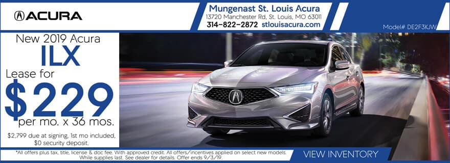 Lease a 2019 Acura ILX for $229/mo. for 36 mos.