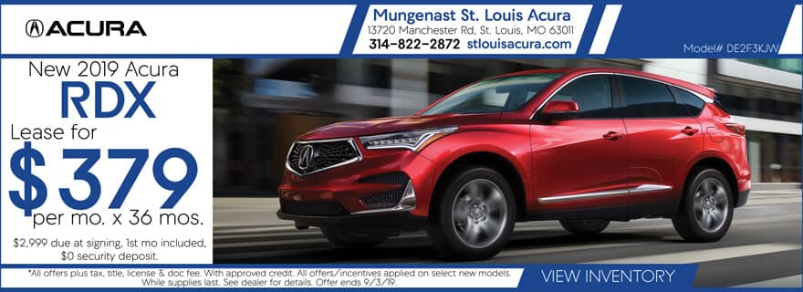 Lease a 2019 Acura RDX for $379 per mo. for 36 mos.