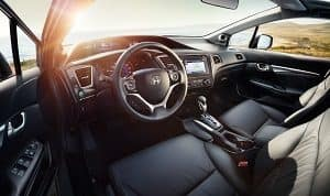 2019 Honda Civic black leather Interior
