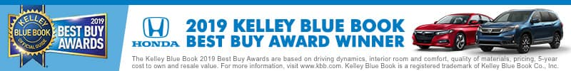 2019 KBB Best Buy Awards Honda