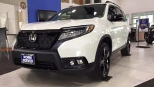 White Honda Passport Huntington Beach CA