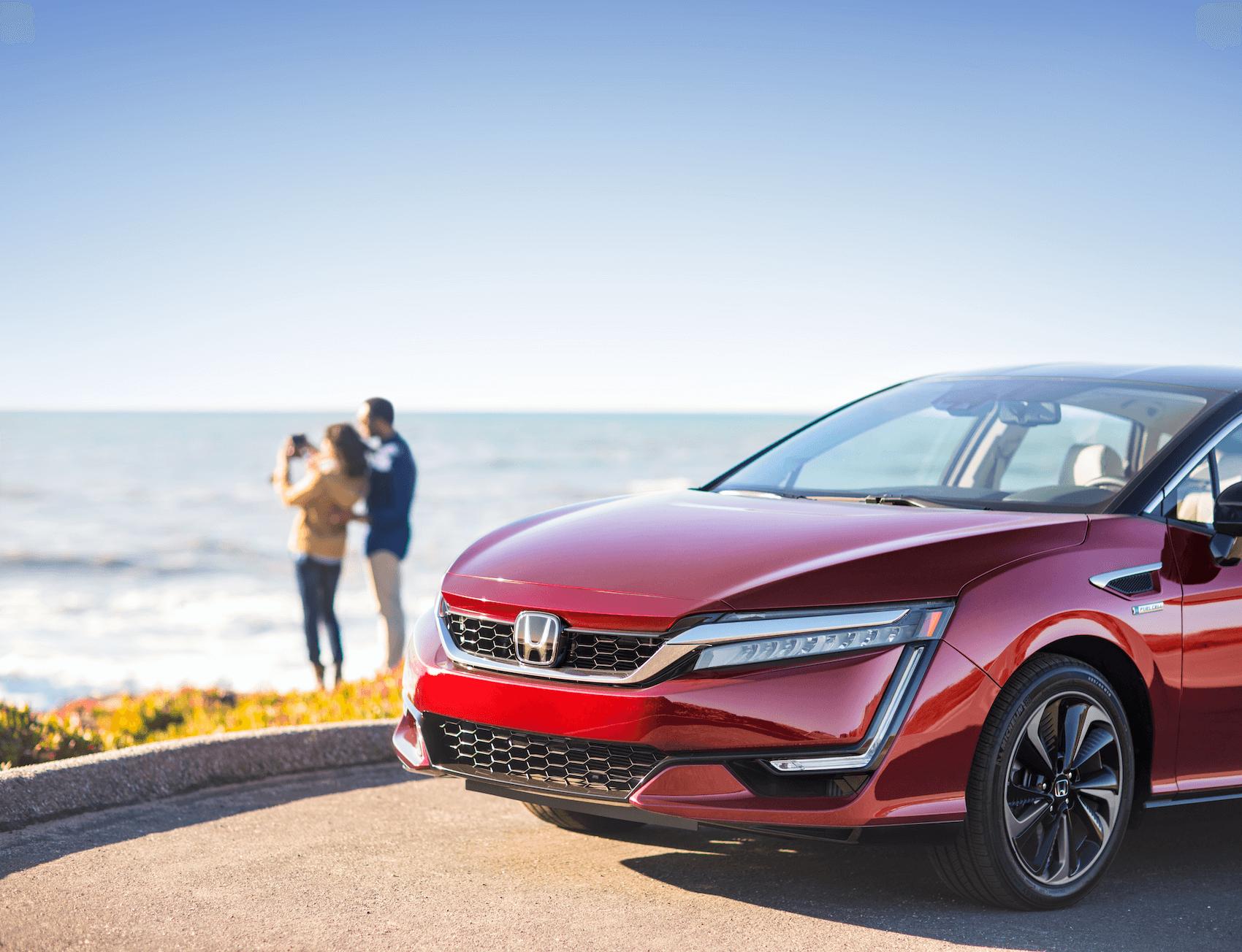 Red Honda Clarity