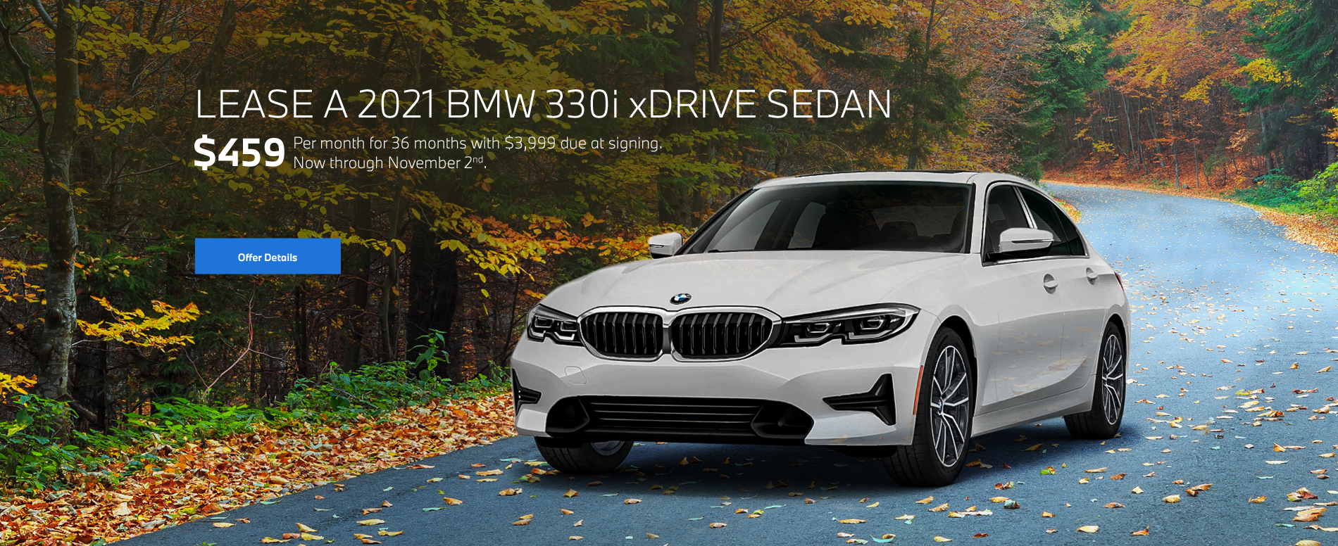 2021 330i xDrive Lease Special